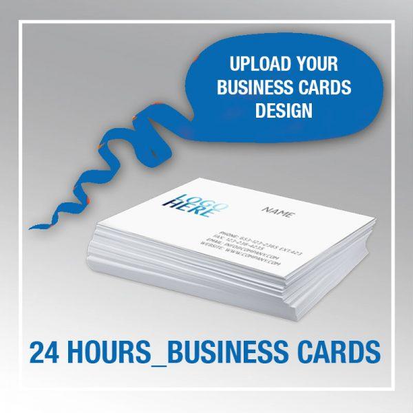 24 Hours Business Cardsupload Your Design Blueinkprint