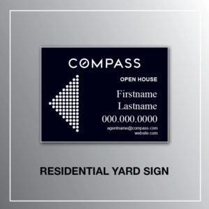 RESIDENTIAL YARD SIGN COMPASS