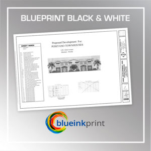 BLACK & WHITE BLUEPRINT