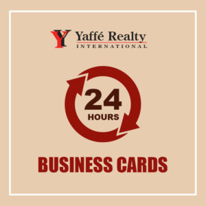 24 HOURS - BUSINESS CARDS - YR