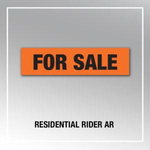 RESIDENTIAL RIDER AR