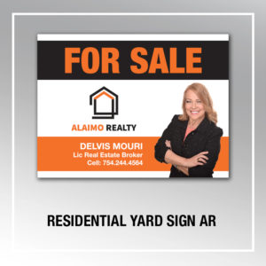 RESIDENTIAL YARD SIGN AR