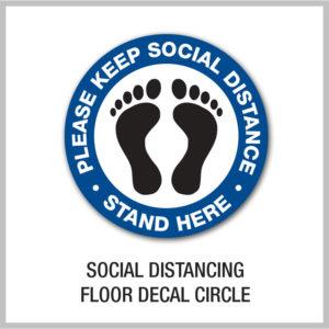 Social Distancing Floor Decals Circle