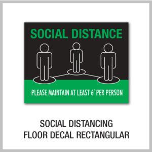 Social Distancing Floor Decals Rectangular