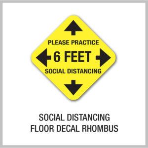 Social Distancing Floor Decals Rhombus