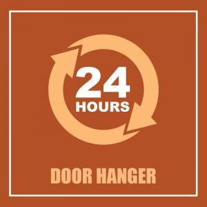 DOOR HANGER 24 HS