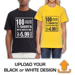 UPLOAD YOUR BLACK OR WHITE DESIGN